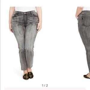 Rachel Roy   Grey Curvy Icon Skinny Jeans Size 20W
